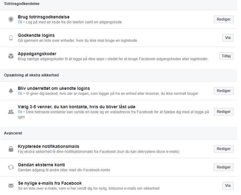 Sikkerhed på Facebook
