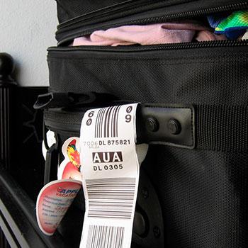 Stregkode på kuffert